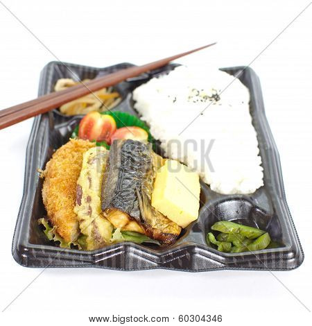 Contemporary Japanese ready- made lunchbox (bento box) poster