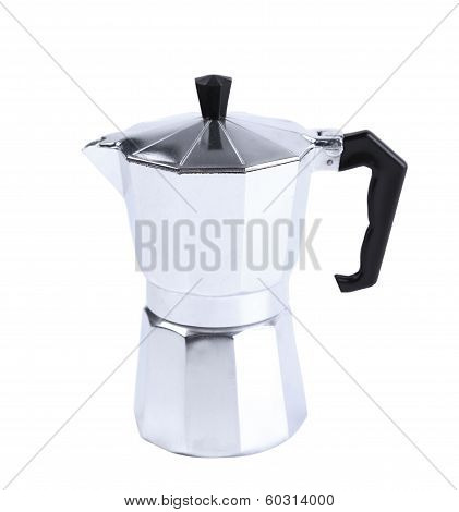 Percolator coffee with the lid closed.