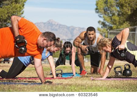 Adults Exercising Outdoors