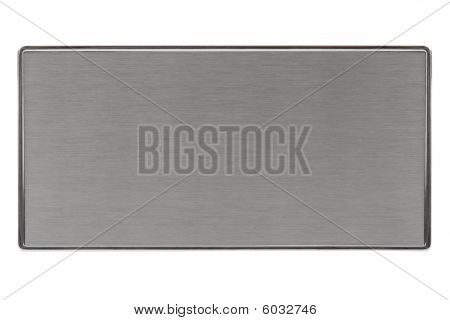 Brushed Metal Plate