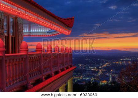 Pagoda Overlooking City Of Reading, Pennsylvania