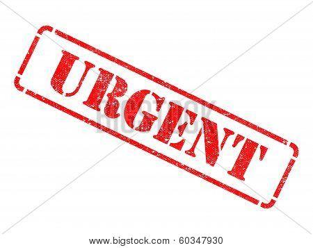 Urgent -  Red Rubber Stamp.