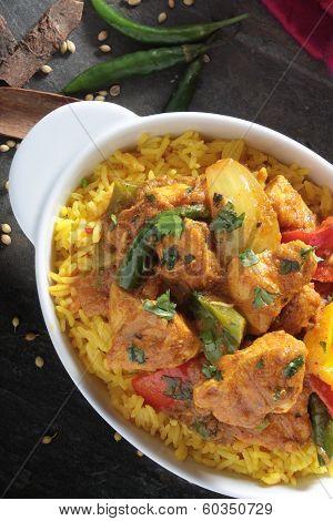 Indian chicken jalfrezi curry