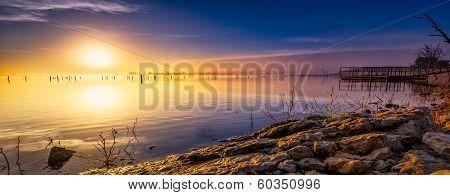 Sunrise Lake Panorama