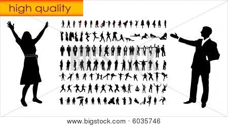 more than hundred people silhouettes