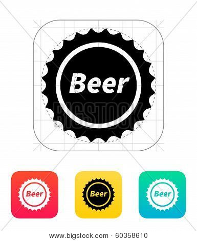 Beer bottle cup icon.