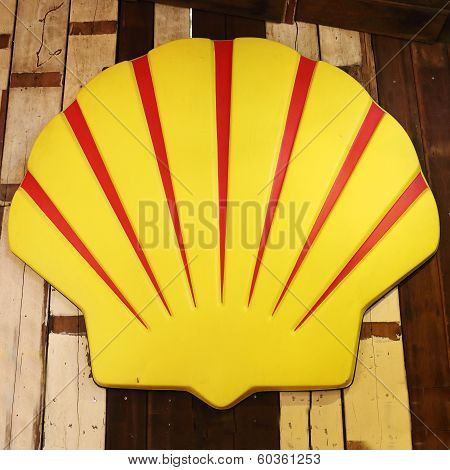 Old Vintage Shell Gas Station Sign