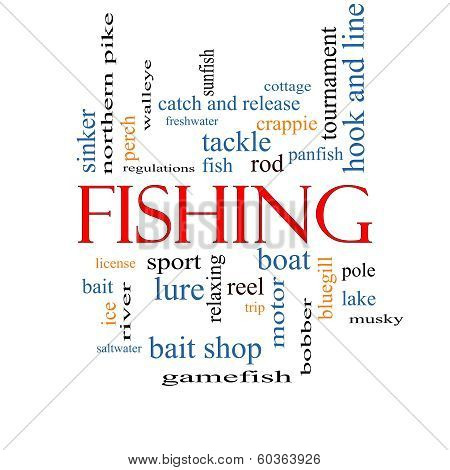 Fishing Word Cloud Concept