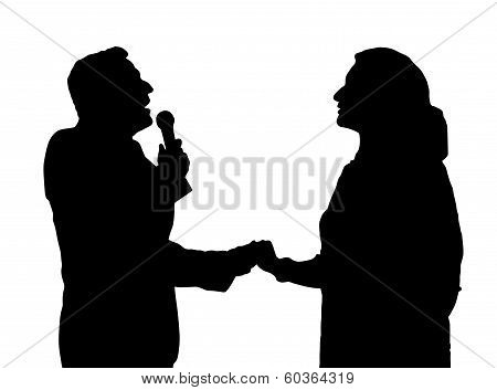 Opera Singers Silhouette