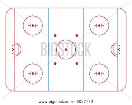 Hockey Rink Vector Photo Free Trial Bigstock