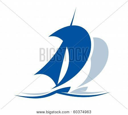 Sailing ship upon the waves