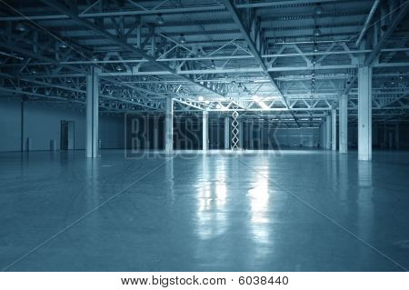 Blue Toned Empty Storehouse