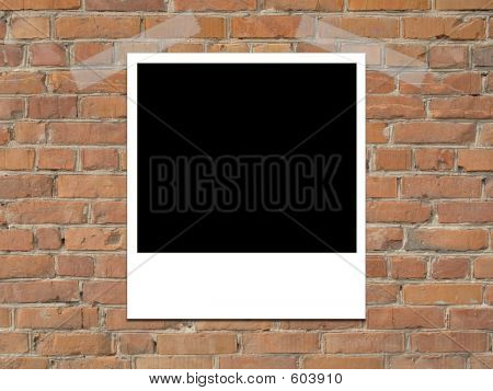Instant photo Instant Picture On Brick Wall