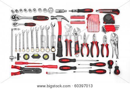 Many Tools isolated on white background