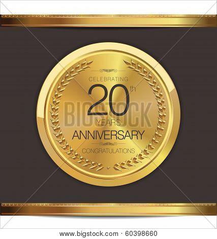 Anniversary golden medal