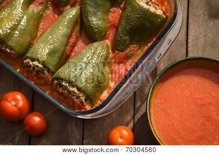Hungarian Baked Stuffed Pepper