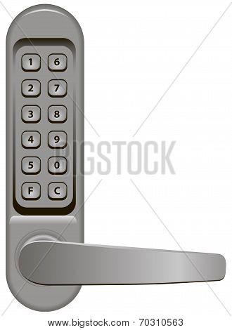 Door Handle With Combination Lock