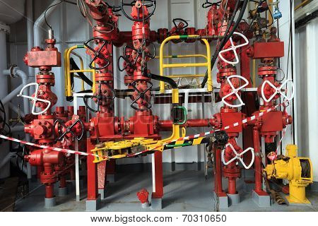 Choke Manifold And Rig Tong On Drilling Rig