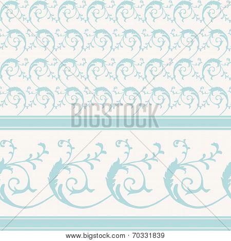 Vintage decorative scrollwork pattern