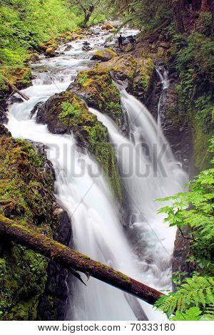 Mountain River Water Fall