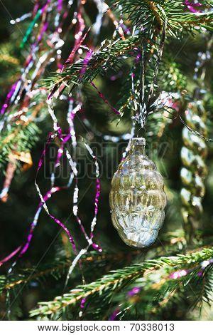 Glass Vintage Cone Christmas Decoration