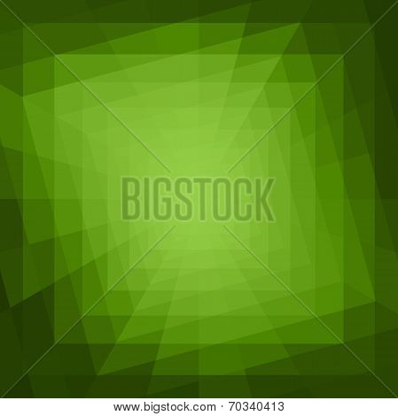 Abstract Green Geometric Tunnel Background.