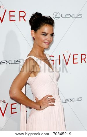 NEW YORK-AUG 11: Actress Katie Holmes attends the premiere of