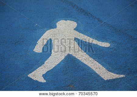Pedestrians' path sign
