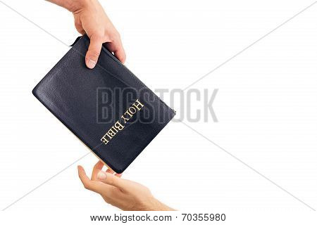 Giving Out A Bible