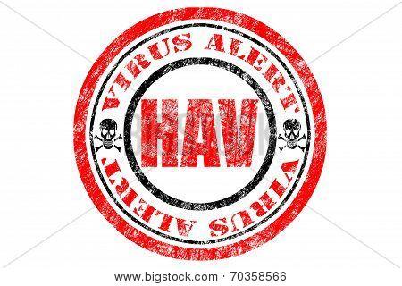 Hav Virus Alert Concept