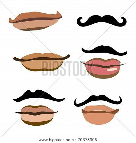 Collection of men mouths