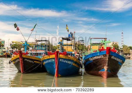Fishing village in Mui Ne, Vietnam.