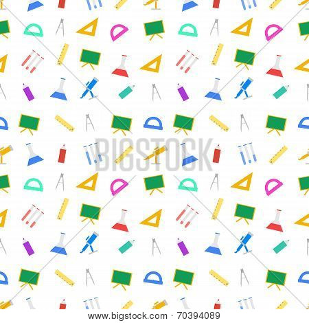 White vector background for school