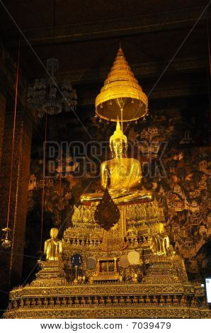 Gold Buddha Grand Hall Thailand