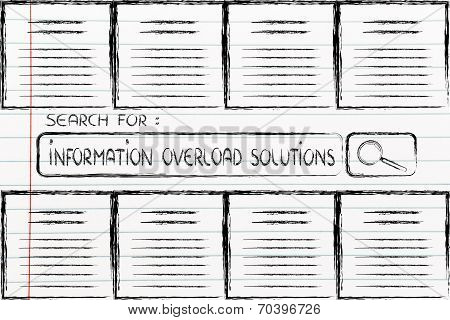 Documents And Search Bar, Looking For Information Overload Solutions