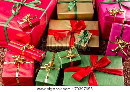Wrapped Gifts Assorted by Color