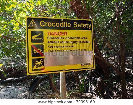 Crocodile Danger Sign, Kakadu National Park, Australia