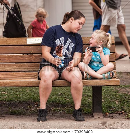 Girl Shares Smartphone Screen