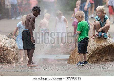 Children At Iowa State Fair