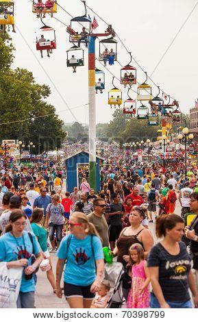 Crowd At Iowa State Fair