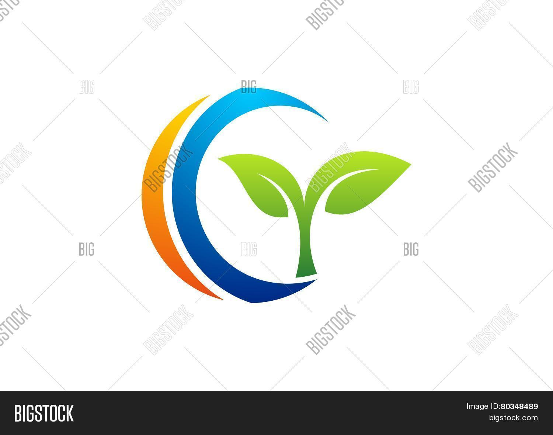 Circleplantslogoletter gc vector photo bigstock circleplantslogoletter gcnatural symbolleaf nature biocorpaavc Images