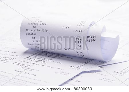 Rolled-up Receipt With Costs