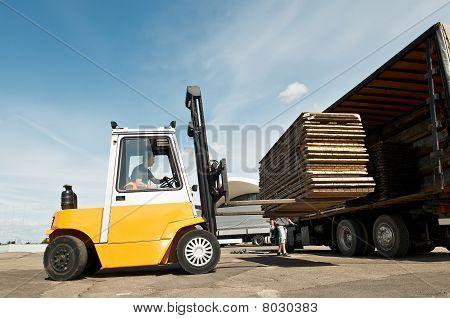 Forklift Loader Warehouse Works