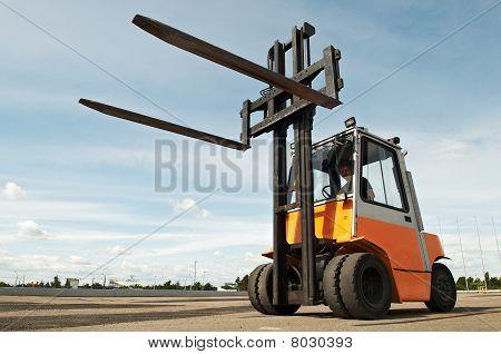 Forklift Loader Outdoors
