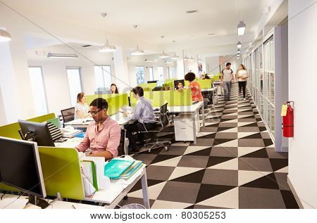 Interior Of Busy Modern Design Office