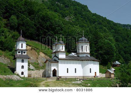 Orthodox Monastery In Mountains, Romania