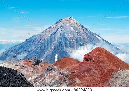 Koryaksky volcano at Kamchatka Peninsula in Russia. poster