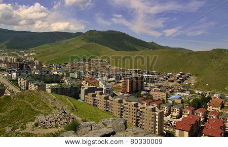New buildings in the capital city Ulaanbaatar,Mongolia