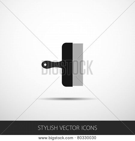 Vector Spatula In A Flat Style With Shadow.
