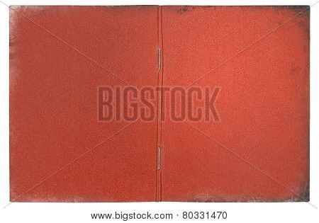 vintage red document cover